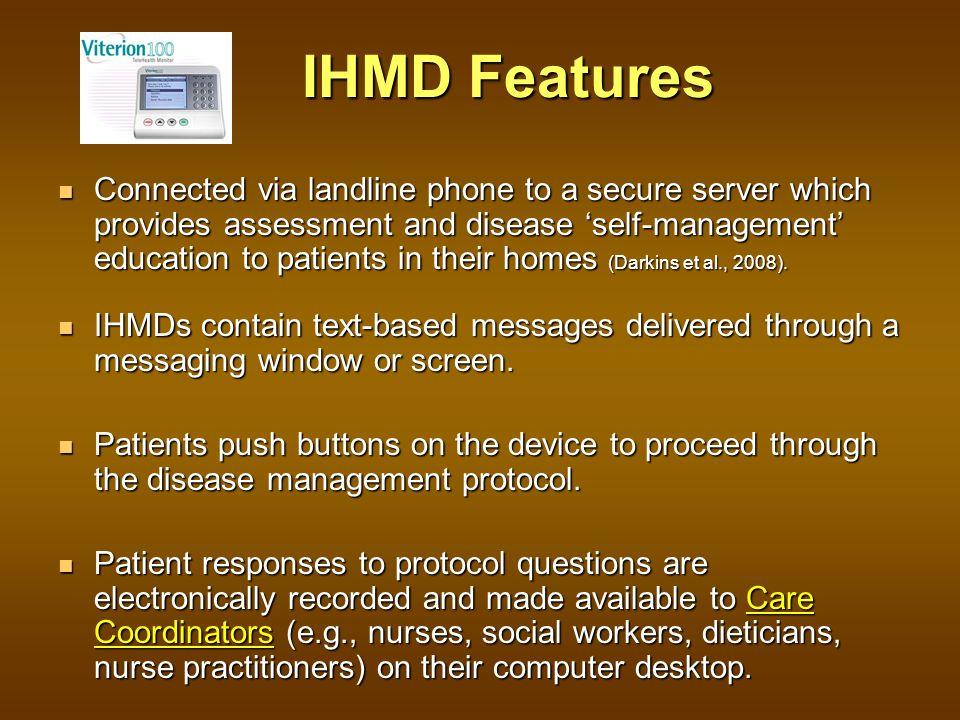 For more information on IHMD program design: Elizabeth J.