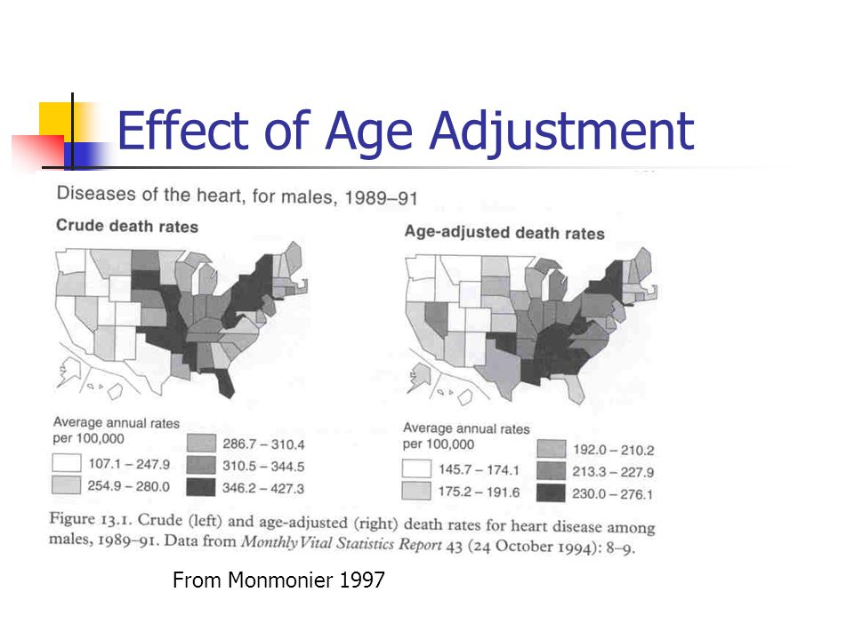 Effect of Age Adjustment From Monmonier 1997
