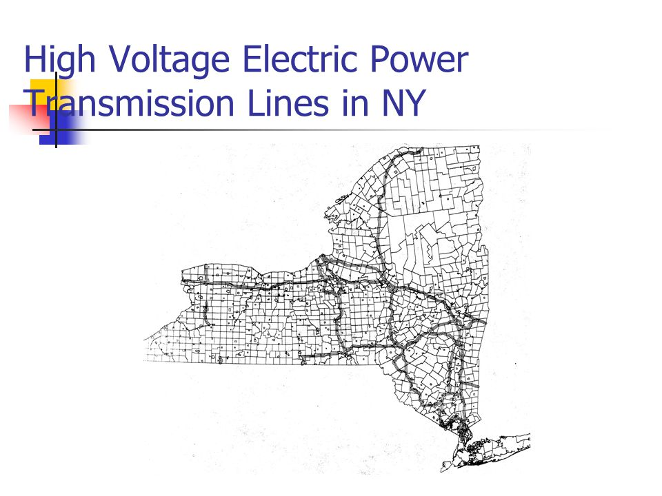 High Voltage Electric Power Transmission Lines in NY