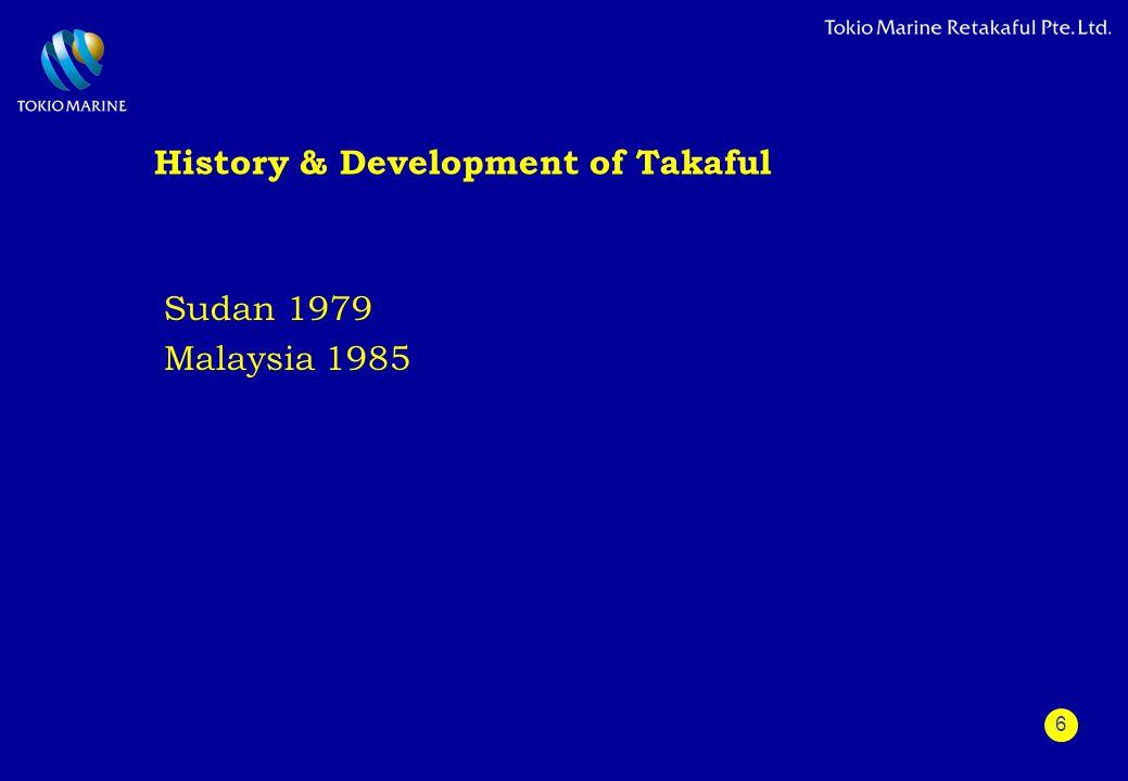 6 History & Development of Takaful Sudan 1979 Malaysia 1985