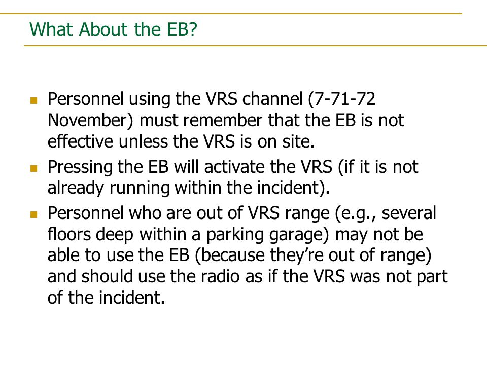 What About the EB.