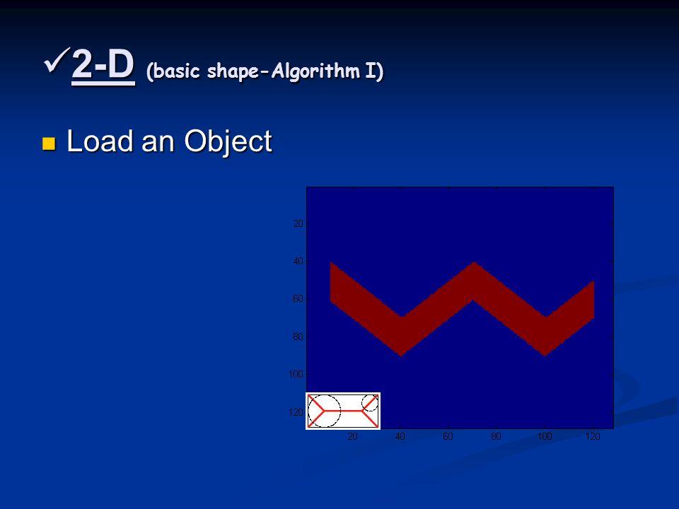 2-D (basic shape-Algorithm I) 2-D (basic shape-Algorithm I) Load an Object Load an Object