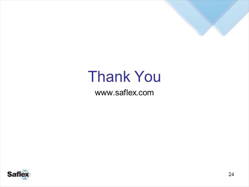 24 Thank You www.saflex.com