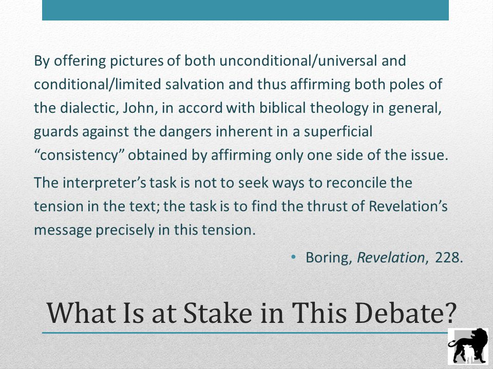 What Is at Stake in This Debate.