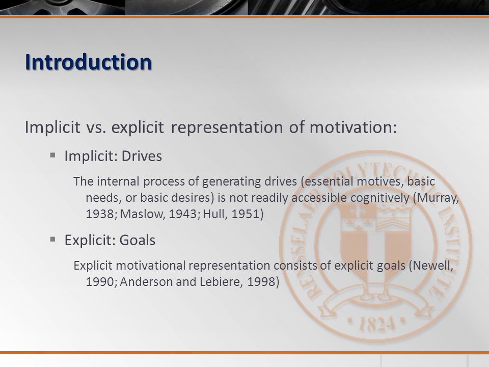 Introduction  Motivational processes are highly complex and varied (Weiner, 1992).
