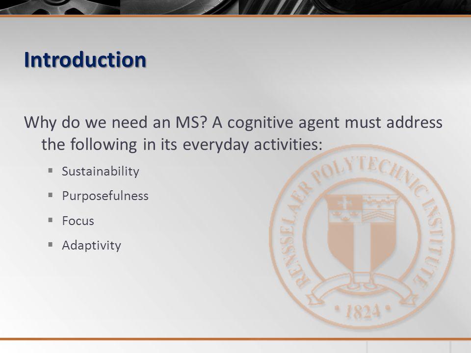 Structure & Responsibilities Meta-cognitive process types (cont.):  Information utilization Selection of reasoning methods  Outcome selection Selection of outputs  Cognitive modes Level selection/integration  Parameter setting Q