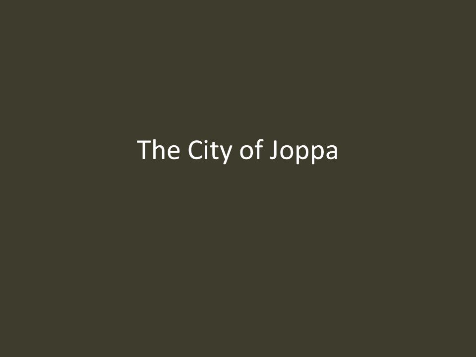 The City of Joppa