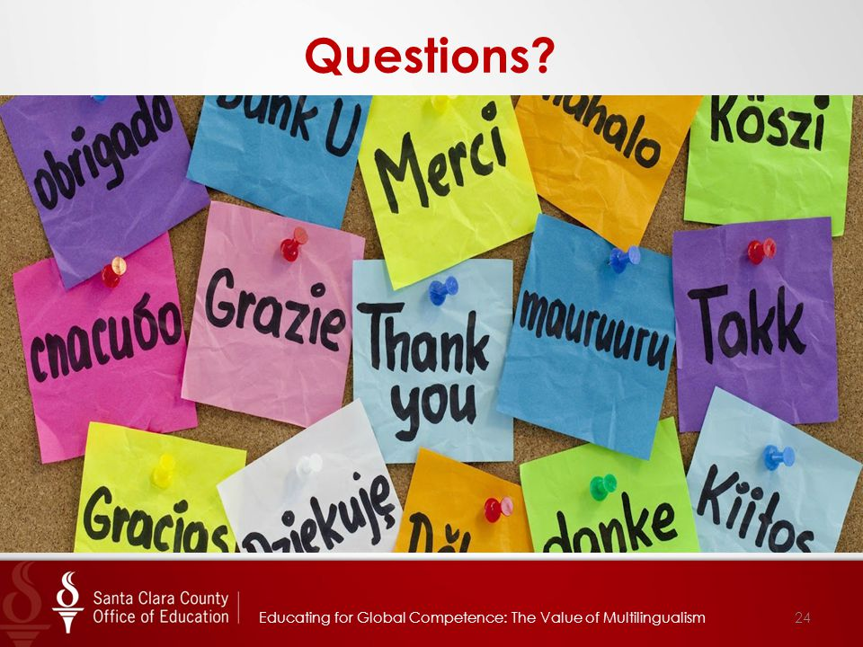 24 Questions Educating for Global Competence: The Value of Multilingualism