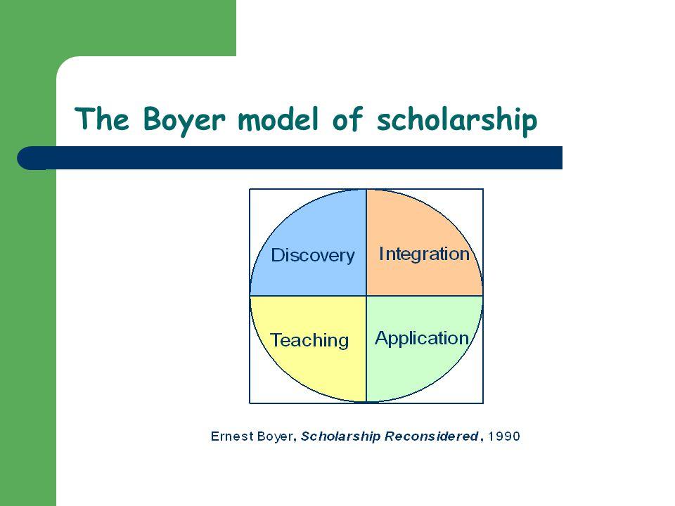 The Boyer model of scholarship