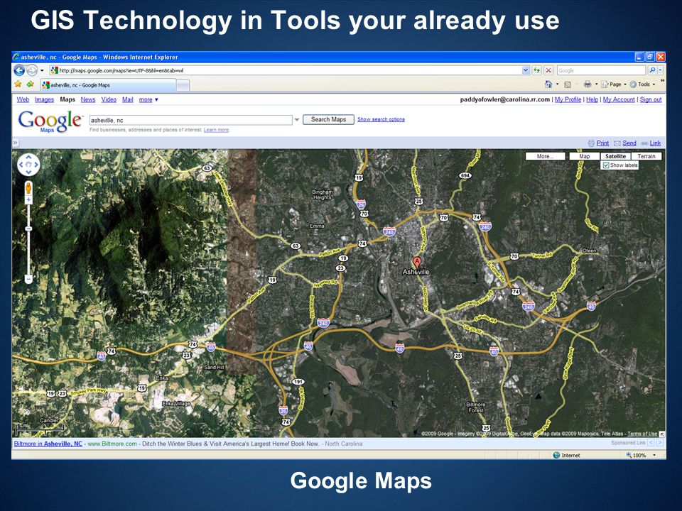 GIS Technology in Tools your already use Google Maps