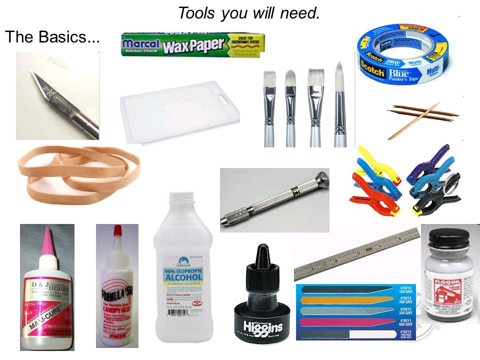 Tools you will need. The Basics...