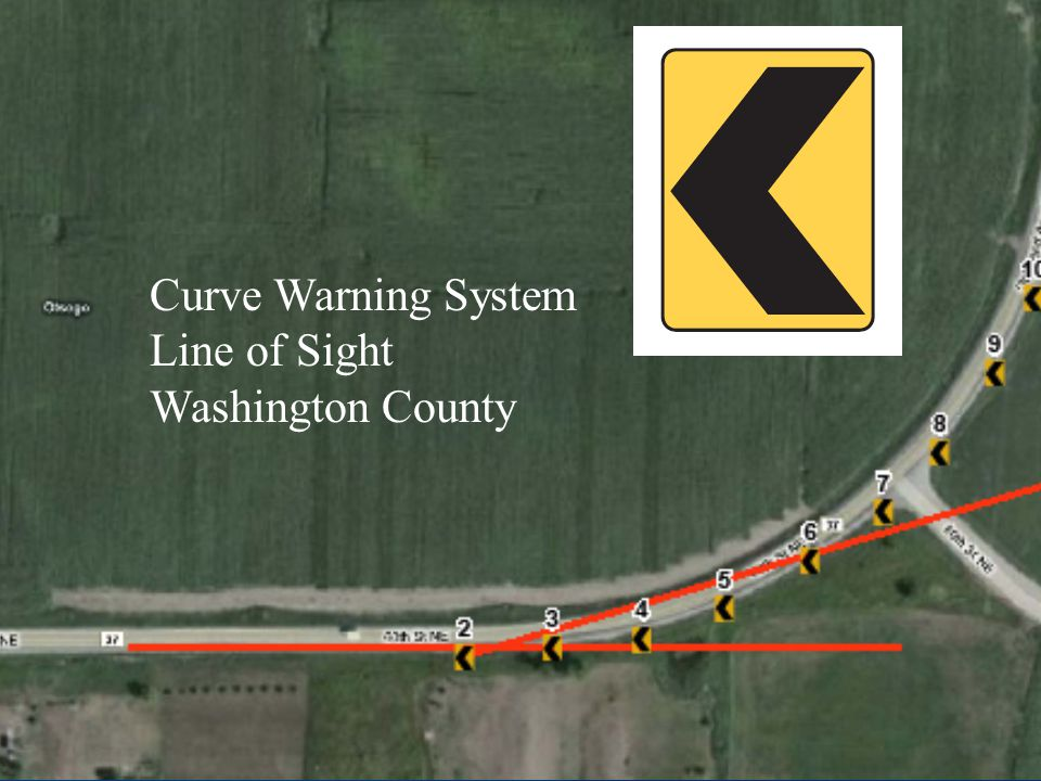 Curve Warning System Line of Sight Washington County