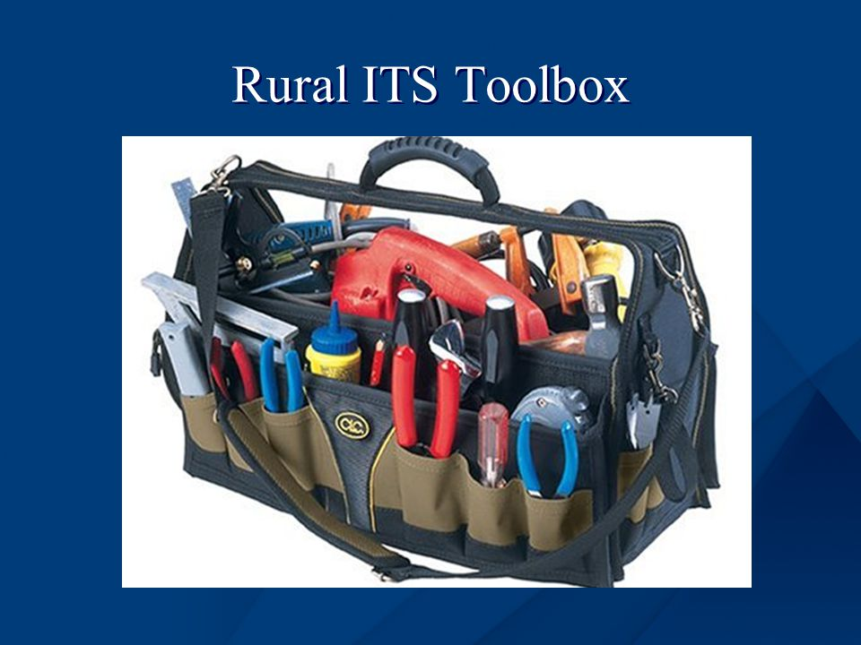 Rural ITS Toolbox