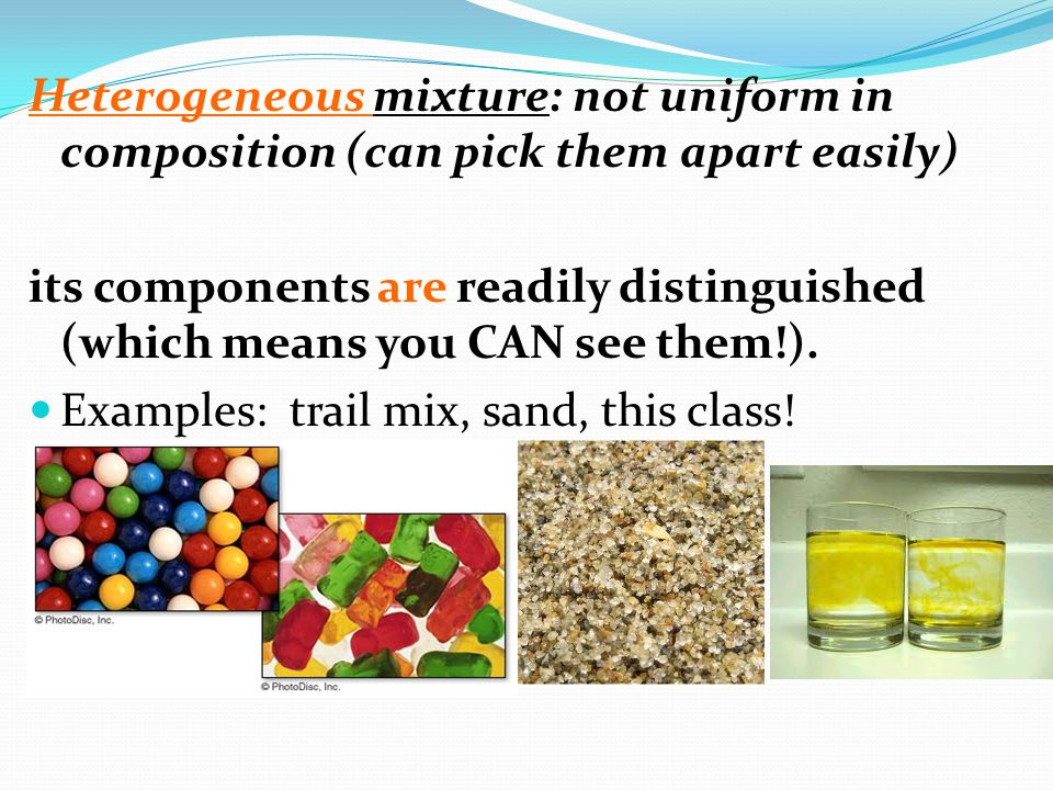 Types of Mixtures: Solutions A solution is a homogeneous mixture of two or more substances in a single phase Solute – substance being dissolved (least amount) Solvent – medium DOING the dissolving (greater amount)
