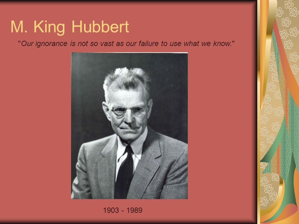 M. King Hubbert 1903 - 1989