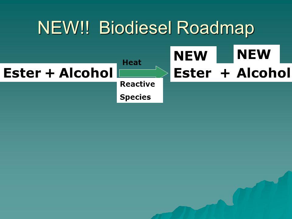 NEW!! Biodiesel Roadmap EsterAlcohol+EsterAlcohol+ NEW Reactive Species Heat
