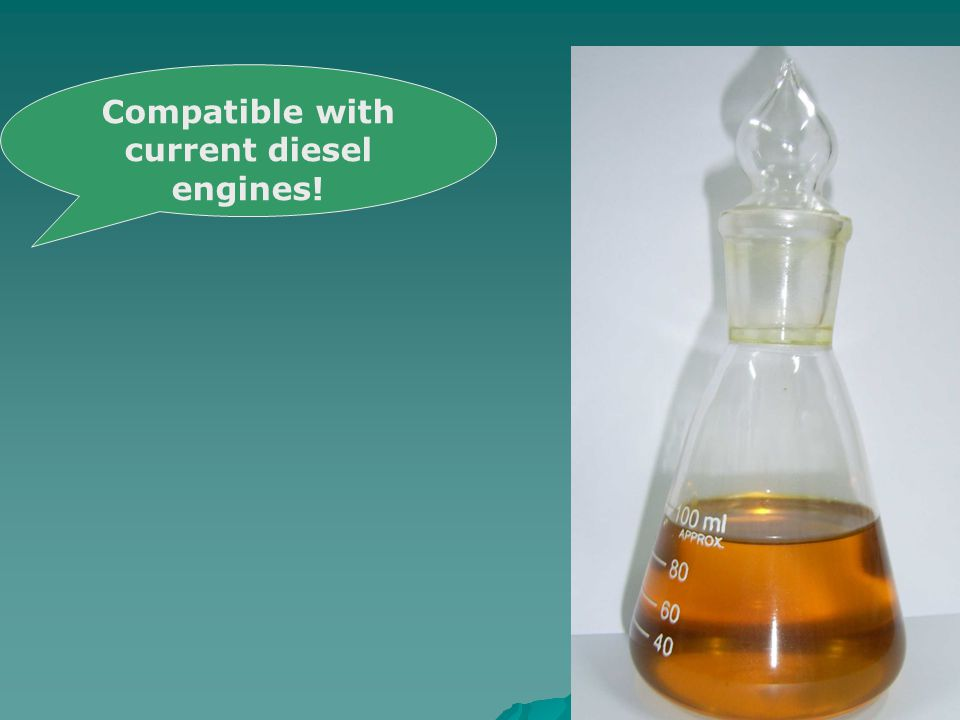 Compatible with current diesel engines!