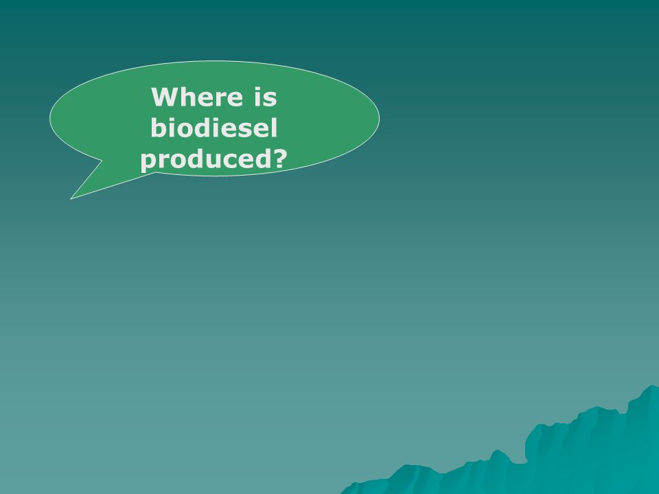 Where is biodiesel produced
