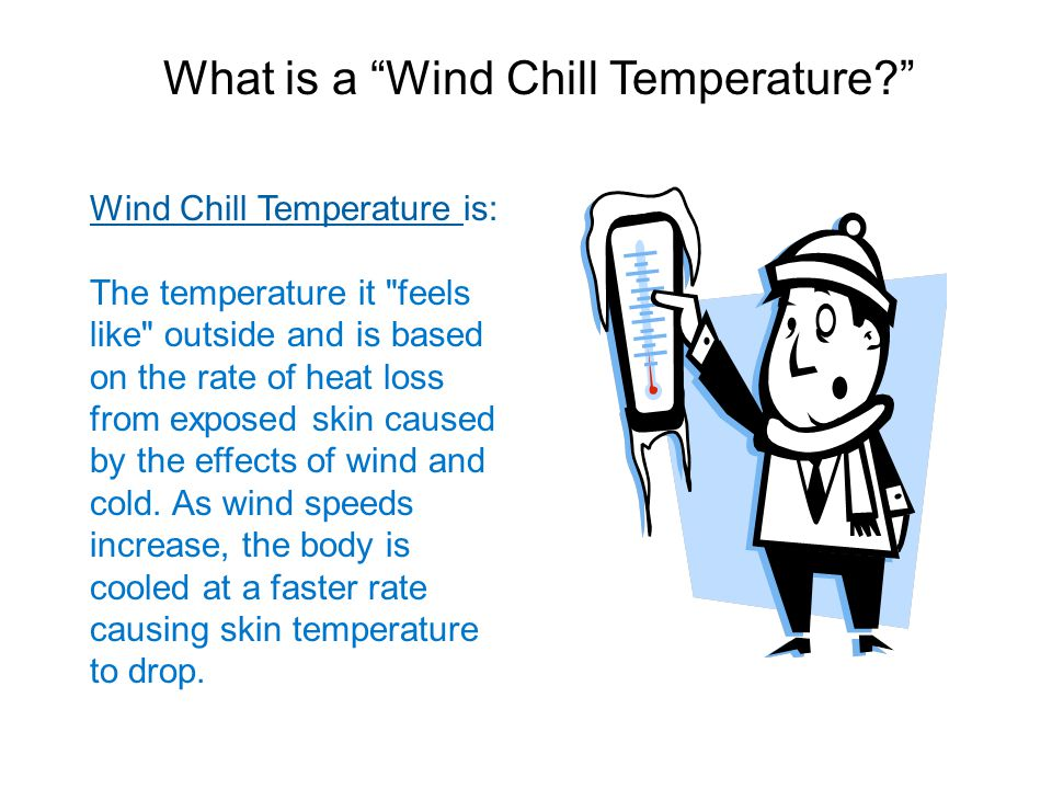 Wind Chill Temperature is: The temperature it