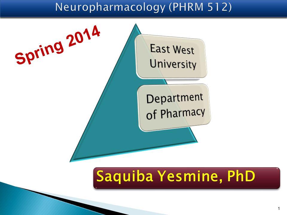 1 Saquiba Yesmine, PhD Spring 2014