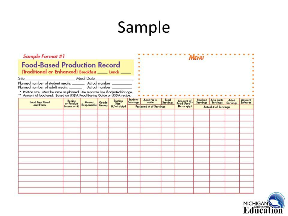 Resources MDE School Nutrition website: www.michigan.gov/schoolnutrition Menu Planner for Healthy School Meals http://www.fns.usda.gov/cnd/menu/menu.planning.NSLP.htm MDE Admin Policy #8 (SY 2004/2005) http://www.michigan.gov/mde/0,1607,7-140-6530_6569-19613--,00.html 26