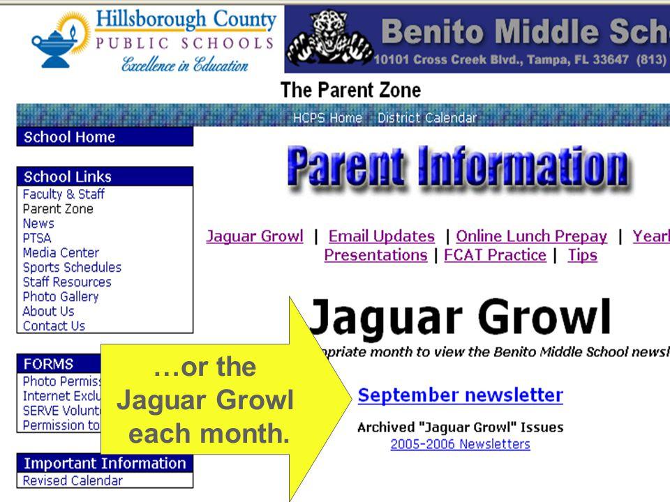 …or the Jaguar Growl each month.