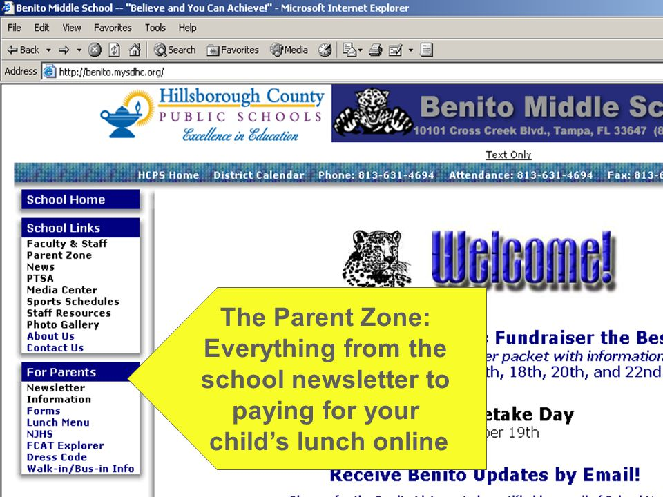The Parent Zone: Everything from the school newsletter to paying for your child's lunch online
