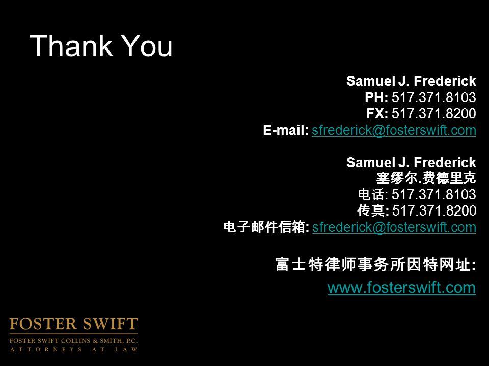 Thank You Samuel J.