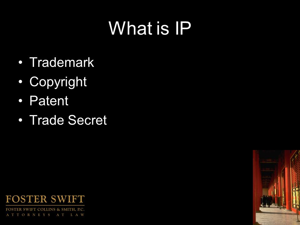 International IP Protection IP TIPS –What can you do right now.