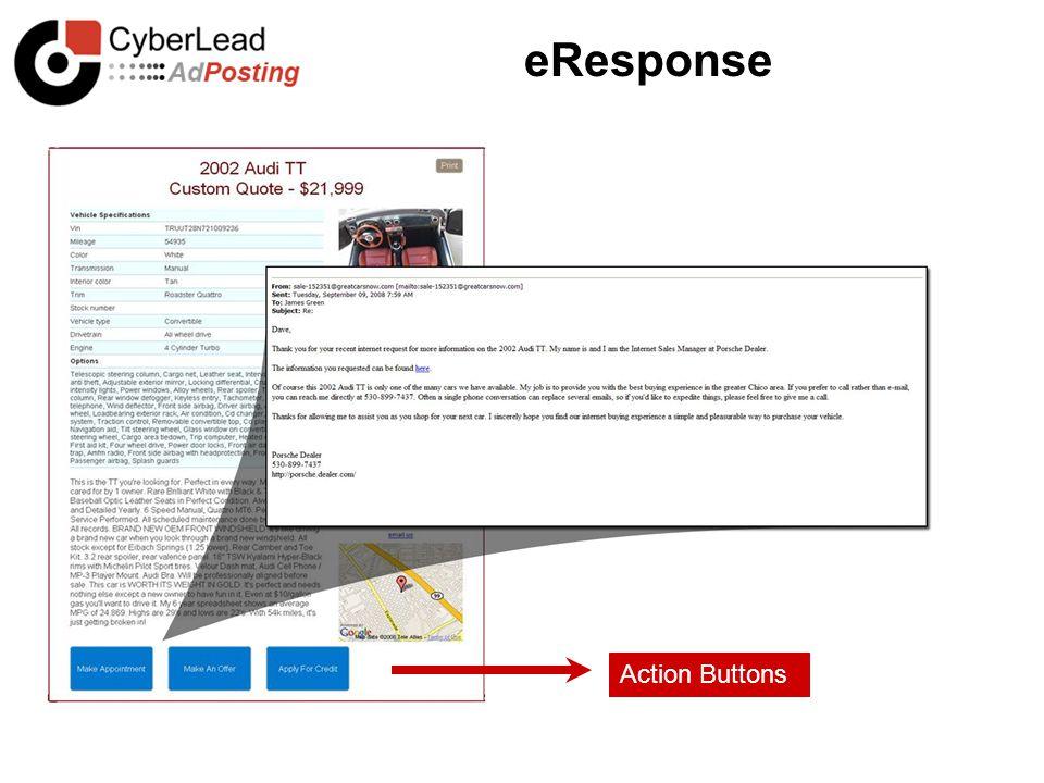 eResponse Action Buttons