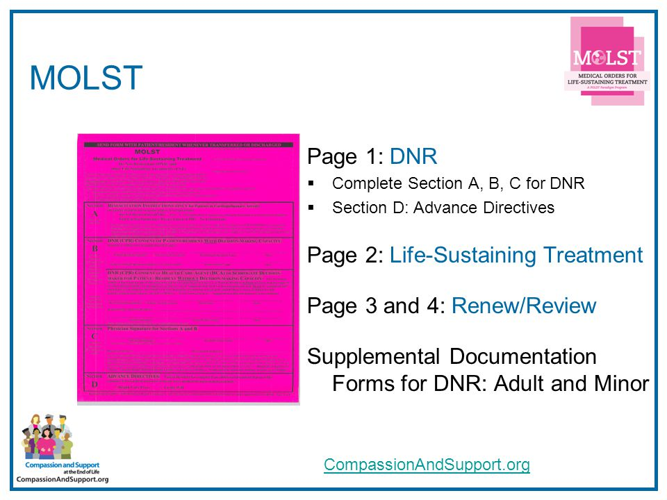17 MOLST FAQs  Compiled from MOLST use by early adopters  Revisions Under Development with NYS DOH, OMRDD, and OMH: Sept.