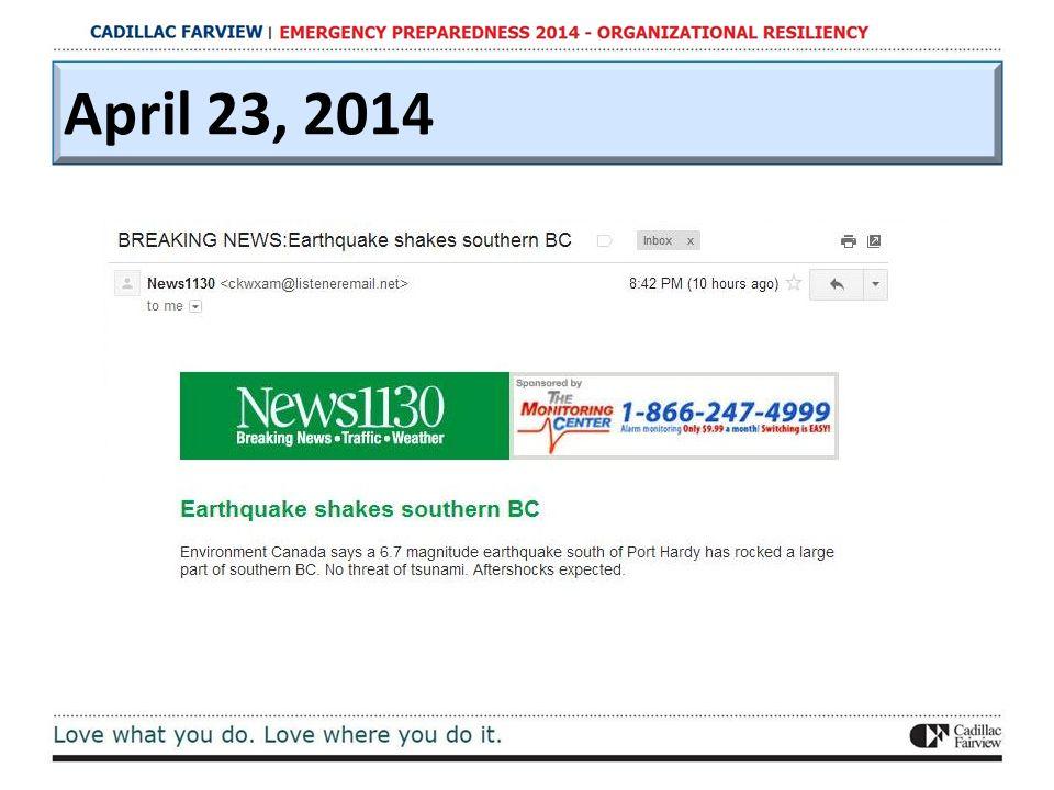 April 23, 2014