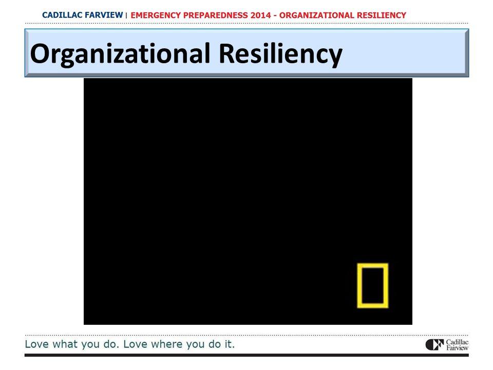 Organizational Resiliency