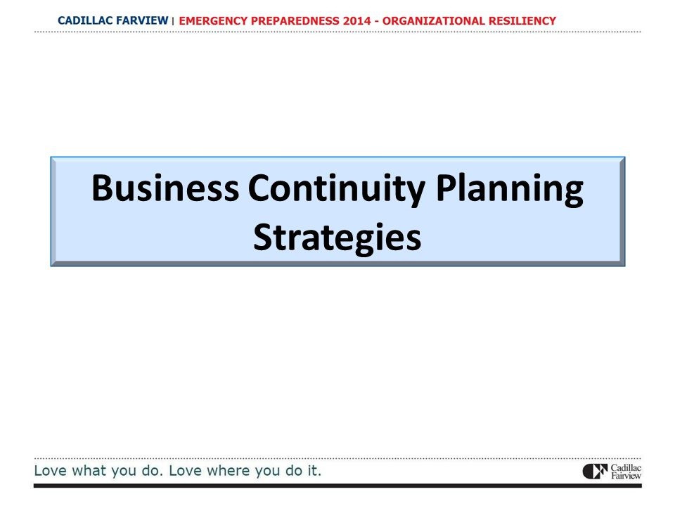 Business Continuity Planning Strategies