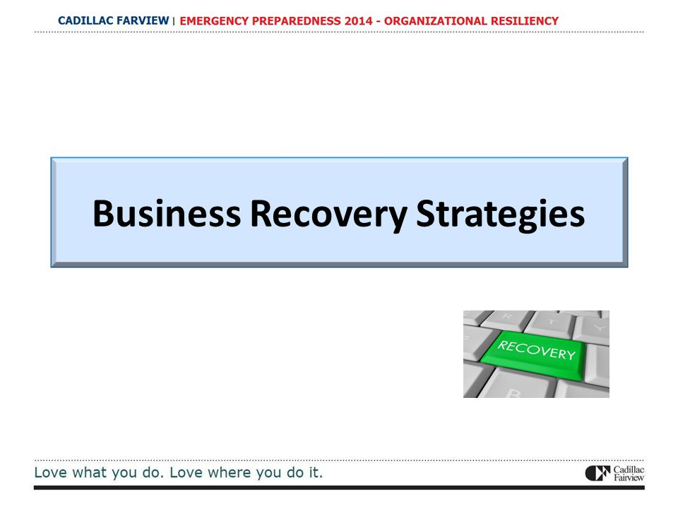 Business Recovery Strategies