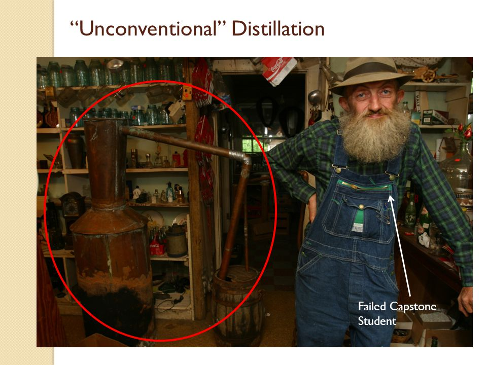 """Unconventional"" Distillation Failed Capstone Student"