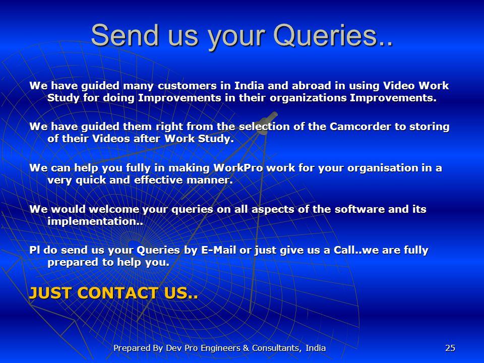 Send us your Queries..