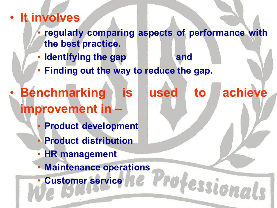 It involves regularly comparing aspects of performance with the best practice.