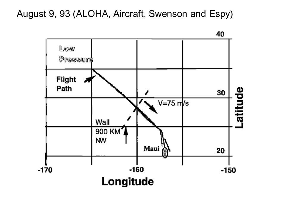 August 9, 93 (ALOHA, Aircraft, Swenson and Espy)