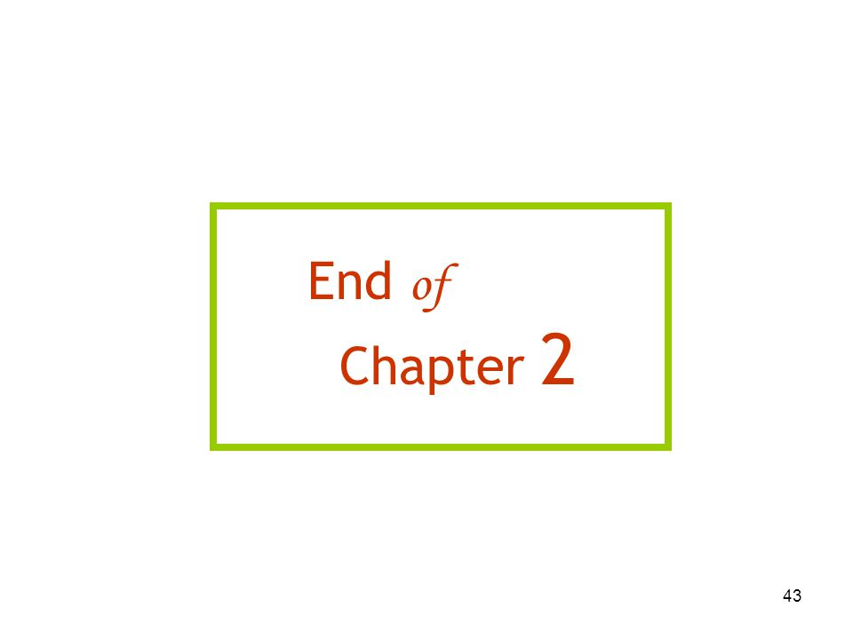 43 End of Chapter 2