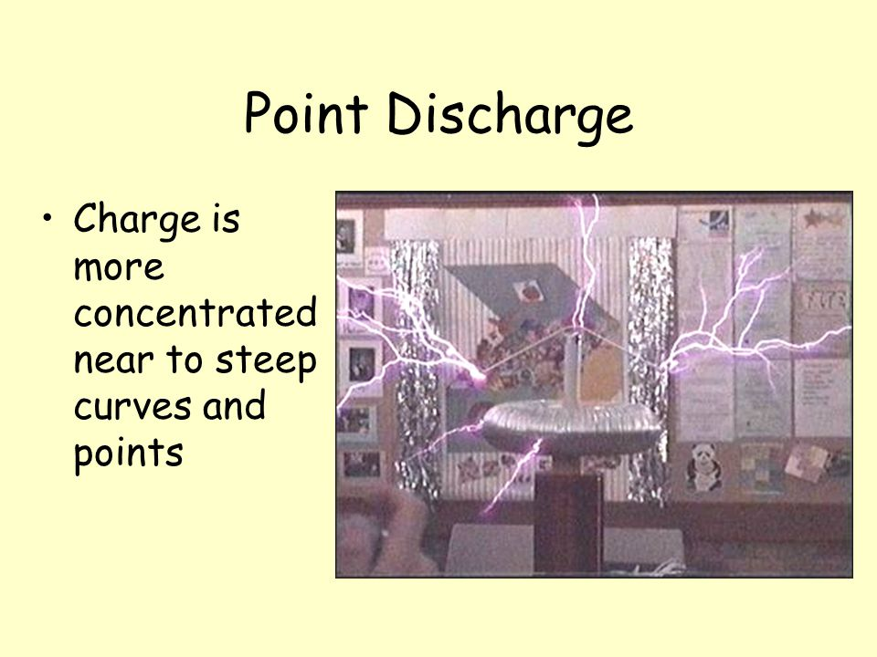 Point Discharge Charge is more concentrated near to steep curves and points