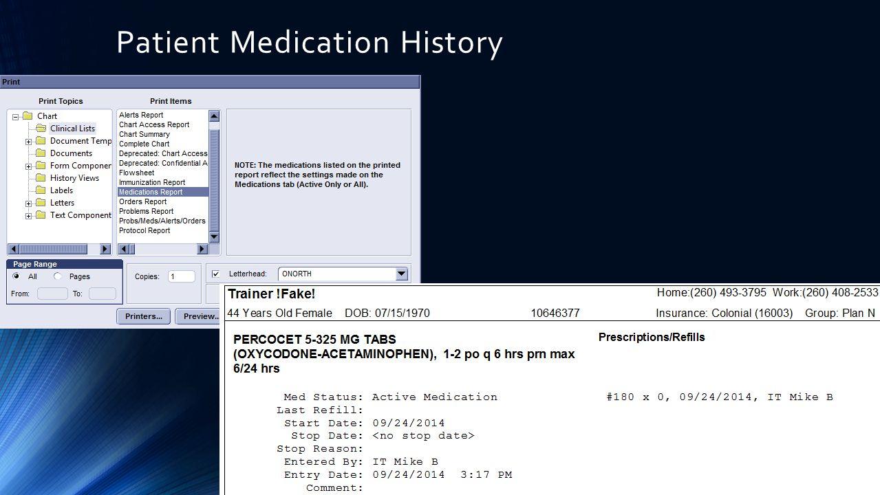 Patient Medication History