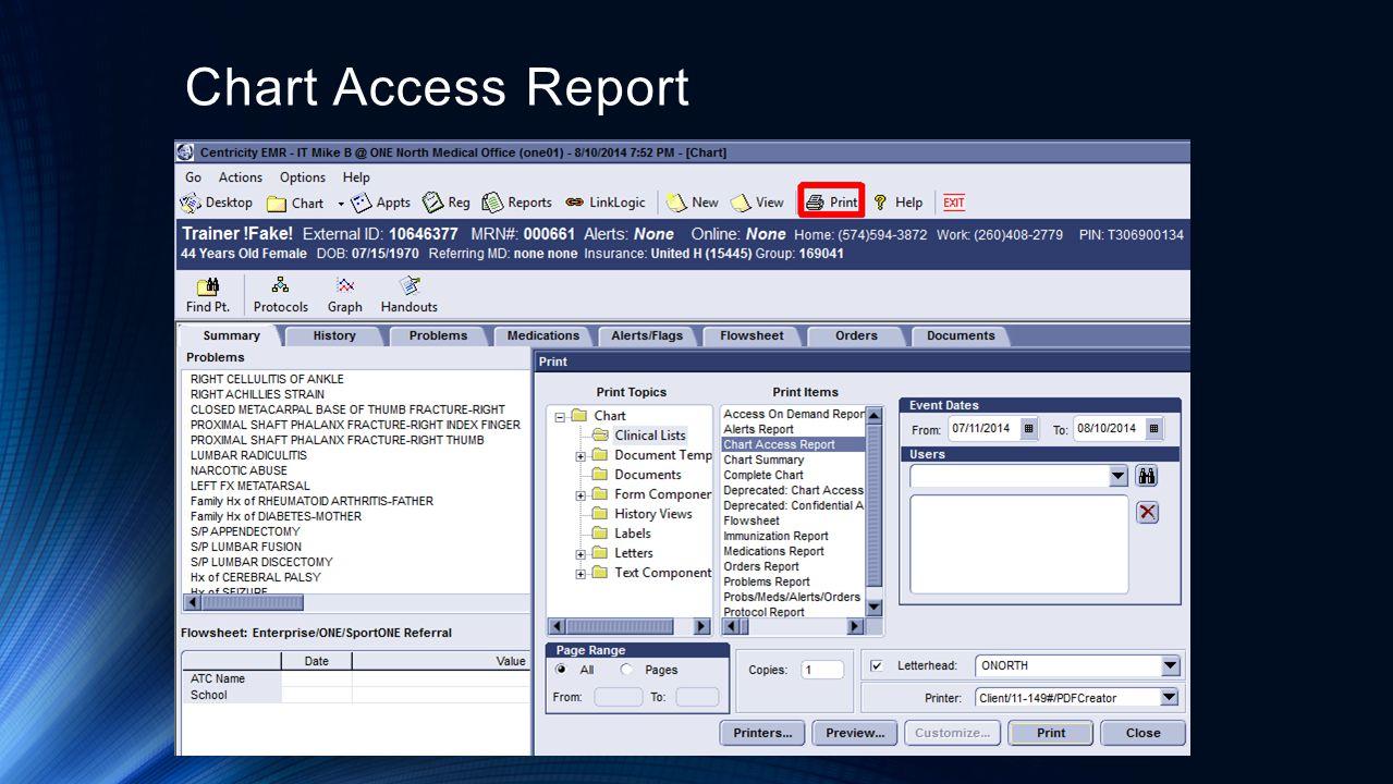 Chart Access Report