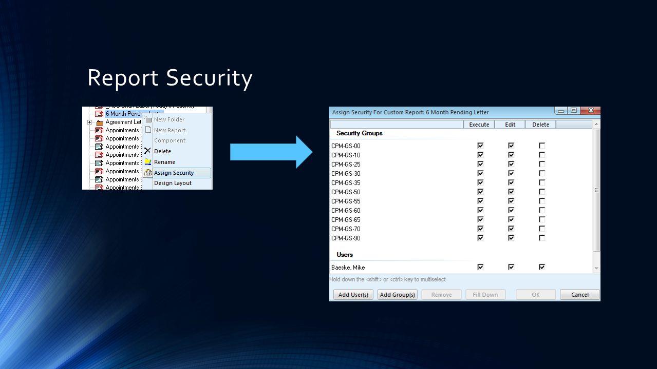 Report Security