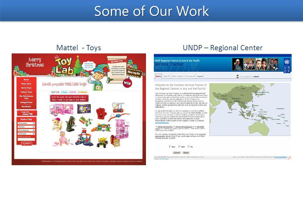 UNDP – Regional CenterMattel - Toys Some of Our Work