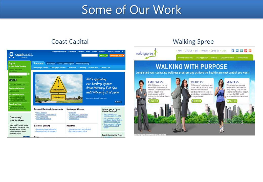 Walking SpreeCoast Capital Some of Our Work