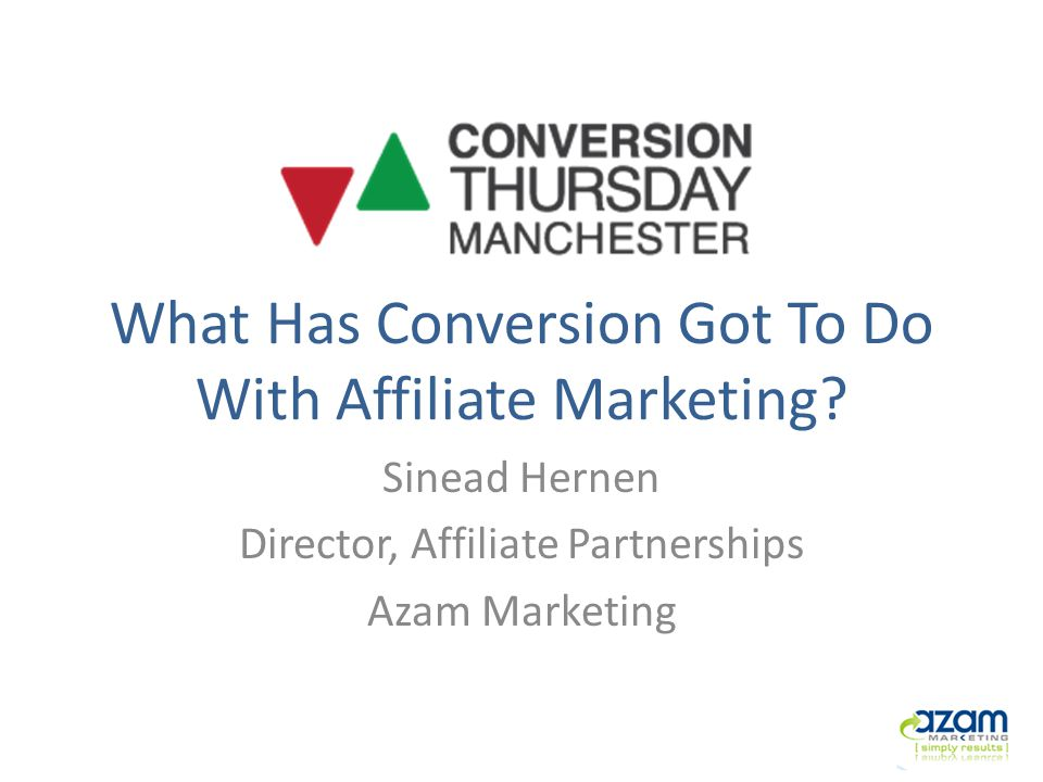 About Me Started career in Online Marketing in 2000 Managed Shop Direct affiliate programs in Manchester for three years Joined Azam Marketing in 2008 Advise on affiliate marketing strategy & Growth