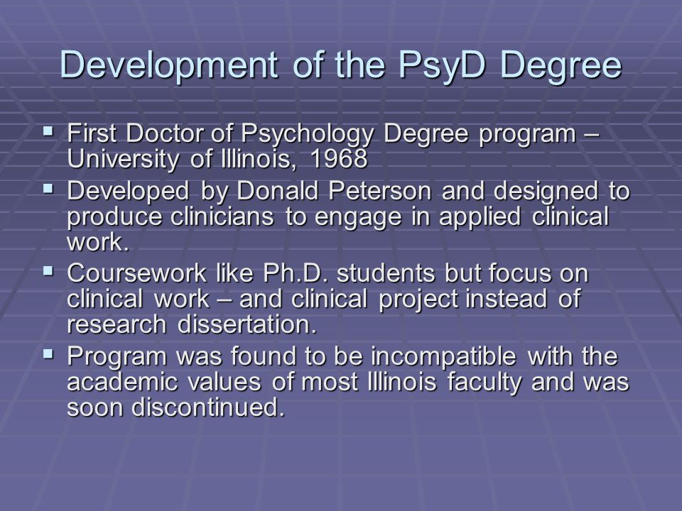 The California School of Professional Psychology  In the late 1960's California Psychological Association notes lack of sufficient doctoral level psychologists in the state.