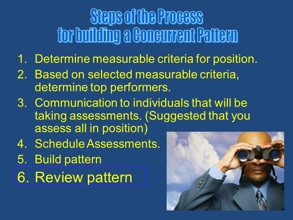 28 1.Determine measurable criteria for position. 2.Based on selected measurable criteria, determine top performers. 3.Communication to individuals tha
