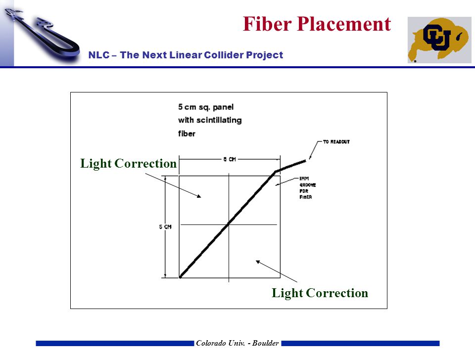 NLC – The Next Linear Collider Project Colorado Univ. - Boulder Fiber Placement Light Correction